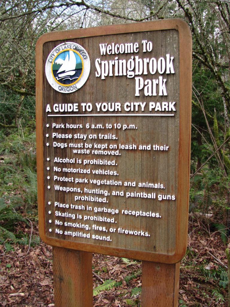 Welcome to Springbrook Park